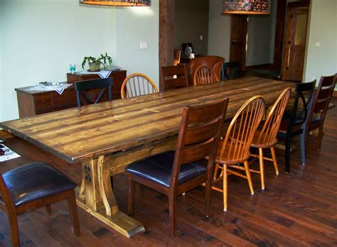 12 Ft Rustic Dining Trestle Table And Bench
