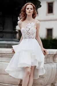 Aliexpress com : Buy Abiti Da Sposa See Through Bodice With Lace Short Wedding Dress White