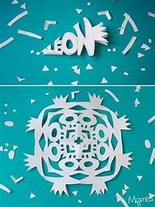 Flocon De Neige En Papier Facile Maternelle : pr noms en flocons de neige en papier activit s et bricolages de no l avec les enfants ~ Melissatoandfro.com Idées de Décoration