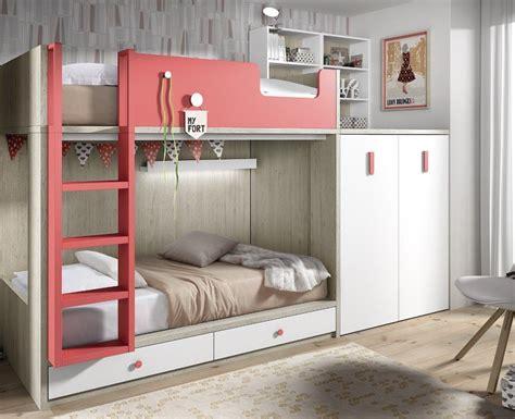 lit superposé avec lit superposé enfant avec armoire et bureau amovible