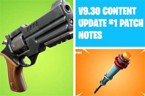 fortnite  patch notes update confirmed revolver