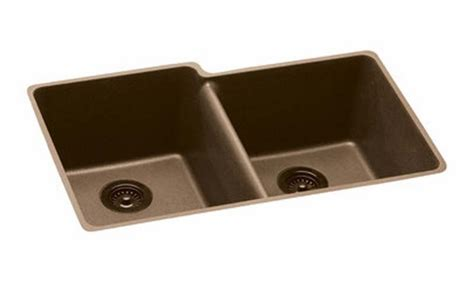 elkay gourmet double bowl drop in undermount black e