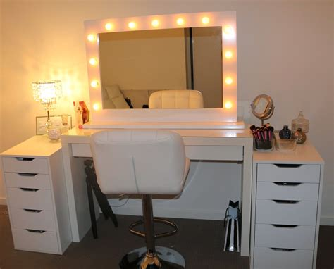 Vanity Desk With Lights Ikea by Dresser Mirror With Lights Bestdressers 2017