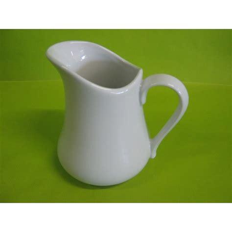 pichet pot a lait boule 70cl en porcelaine blanche centre vaisselle sarl la porcelaine de