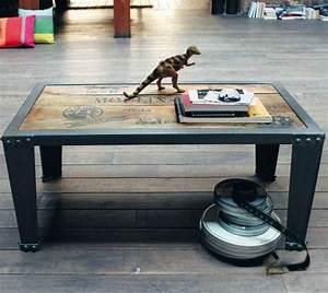 Deco Maison Industriel : table basse deco industriel d coration maison ~ Teatrodelosmanantiales.com Idées de Décoration
