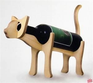 Porte Bouteille Vin Original : porte bouteille en bois chat ou chien le maestro blog ~ Dode.kayakingforconservation.com Idées de Décoration