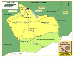 Sevier County Tennessee Map
