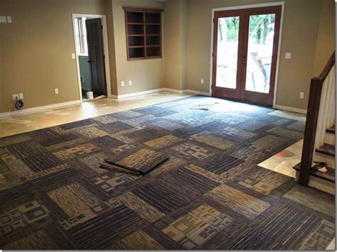 carpet squares design for basement stylish of square