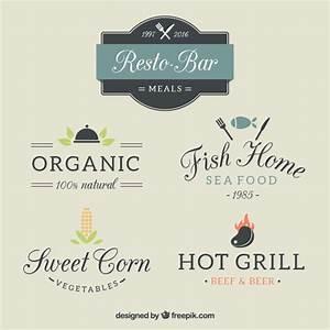 Diferent restaurant logo templates Vector | Free Download