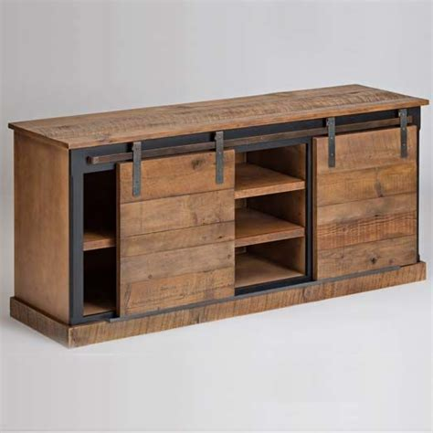 barn door media cabinet sliding barn door console ships free salvaged furniture