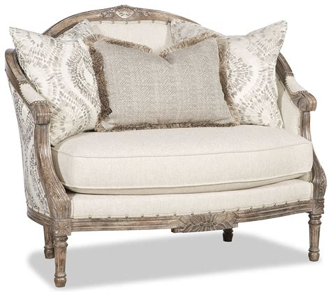 Classic Settees by Classic Carved Wood Frame Settee With Modern Colors