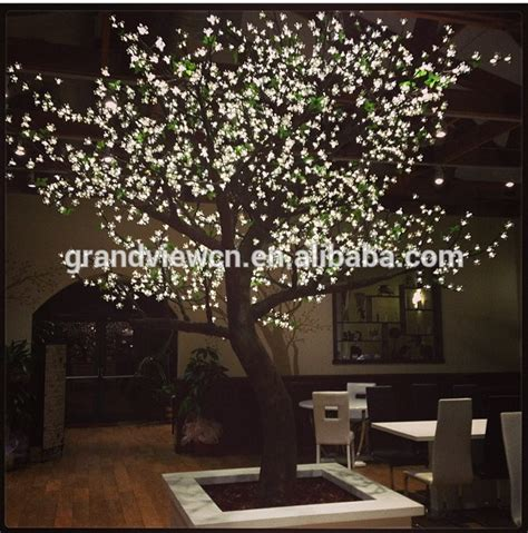 white artificial nature led cherry blossom tree light for