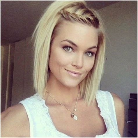 blonde short bob hairstyles jagged layers straight