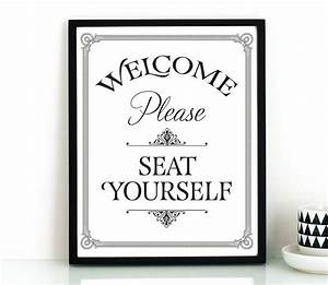 funny bathroom wall art printableplease seat yourself With bathroom sayings funny