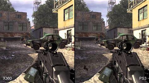 call  duty modern warfare  xbox ps comparison