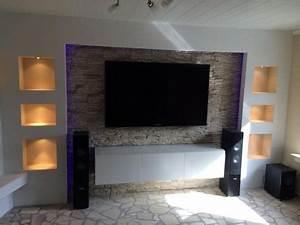 Steinwand Wohnzimmer Tv : die besten 25 tv wand selber bauen ideen auf pinterest ~ Bigdaddyawards.com Haus und Dekorationen
