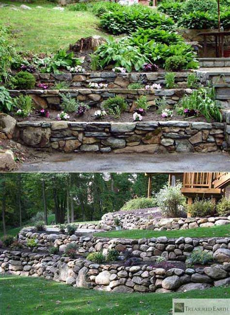 inspiring tips  building  diy retaining wall