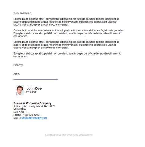 Exemple Email Professionnel Gratuit Présentation Courrier