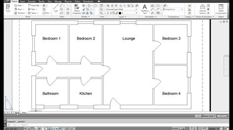 Autocad Drawing House Plan Tutorial