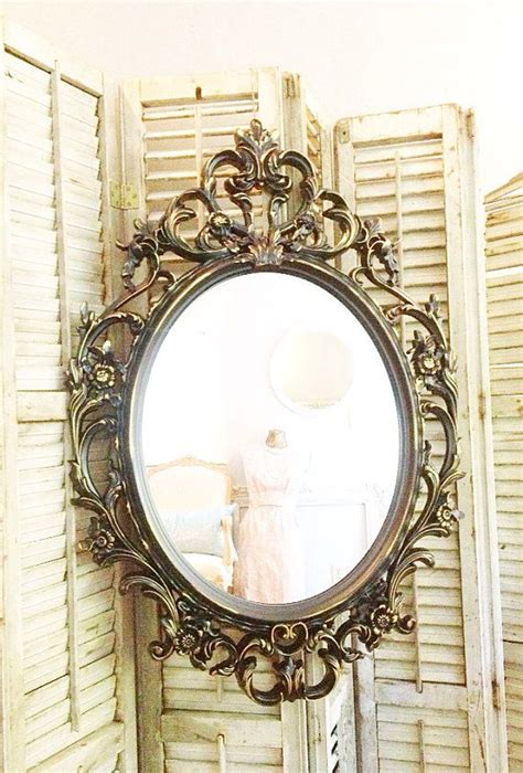 shabby chic oval mirror baroque mirror shabby chic mirror ornate oval mirror large wall mi