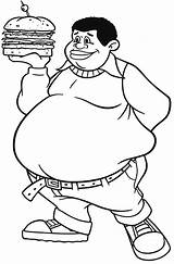 Clipart Fat Coloring Albert Boy Pages Burger Webstockreview Cute Bring sketch template