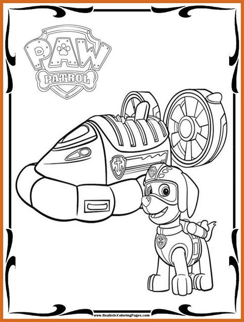 Paw Patrol Coloring Pages For Kids at GetDrawings Free