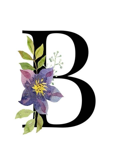 letter  floral alphabet art instant digital  etsy floral monogram letter printable