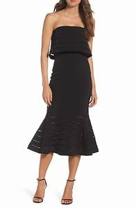 strapless dresses on trend for summer wedding guests 2017 With black dress summer wedding