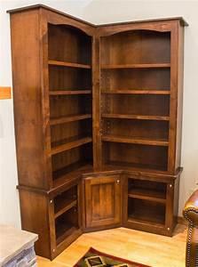 Handmade, Rustic, Alder, Custom, Corner, Bookcase, By, Brushbacks, Woodshop