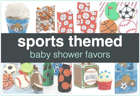 Sports Themed Baby Shower Favors  Shower That Baby