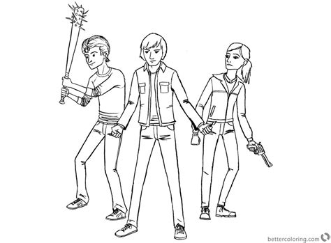 stranger  coloring pages kids ready  fight