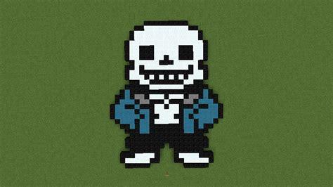 Sans Minecraft Pixel Art (undertale) By Pendronatormusic