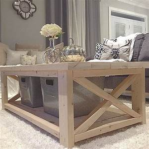 diy coffee table from plan http ana whitecom 2012 07 With rustic x coffee table plans