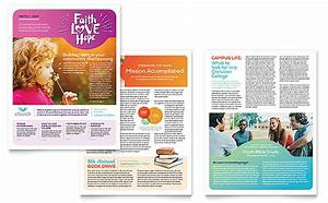 Newsletter Templates In Publisher Church Newsletter Template Design