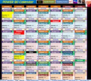 Power 90 sched... Power 90
