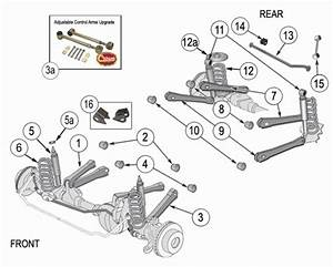 Jeep Wrangler Tj Suspension Parts Exploded View Diagram  Years 1997