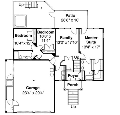 tri level house plans tri level house plan with loft overlook 72197da