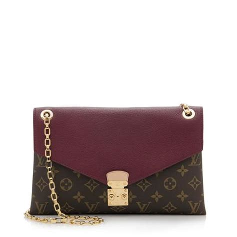 louis vuitton monogram canvas pallas chain shoulder bag
