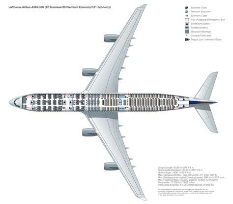 Sitzplan A340 300 Lufthansa magazin