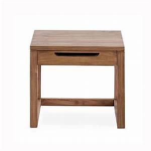 Nachttisch Mit Schublade : nachttisch mit schublade teakholz natur l 50 x t 40 x h 43 cm depot de ~ Indierocktalk.com Haus und Dekorationen