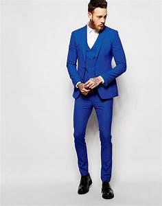 Büro Outfit Herren : bild 1 von asos superenger anzug in blau anziehsachen pinterest hochzeitsanzug anzug ~ Frokenaadalensverden.com Haus und Dekorationen