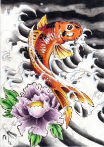 Dragon Koi Fish Tattoo Designs