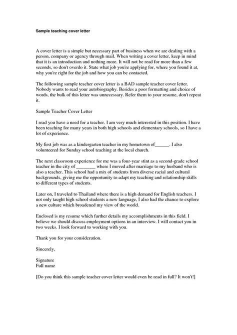 cover letter exle cover letter sle kindergarten
