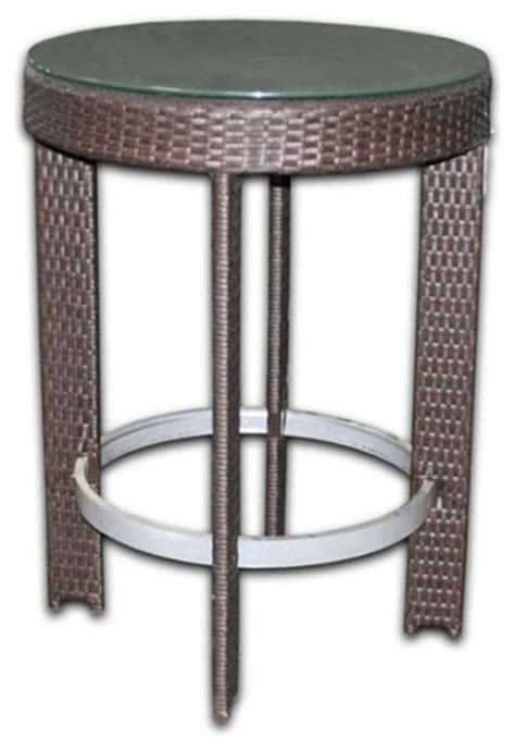patio heaven signature 30 in patio bar height table