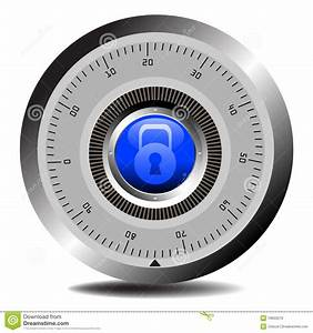 Combination Lock For Vault Royalty Free Stock Image
