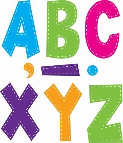 Font Letters Bright Multi Fun Stitch Created