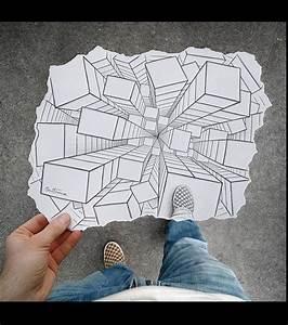 les 25 meilleures idees de la categorie illusion d optique With beautiful faire une maison en 3d 0 ville en papier youtube