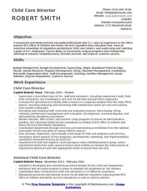 child care director resume samples qwikresume 875 | child care director 1534216934 pdf