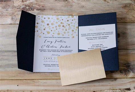 How to add Gold to DIY Wedding Invitations Mountain