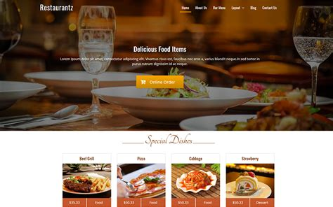 Wp Restaurant Themes Best Free Restaurant Themes 2018 Mageewp